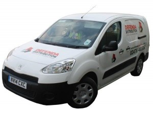 Ask the driver of any of our leaflet distribution team vans for a business card